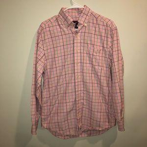 Vineyard Vines Pink and Plaid Button Down Shirt